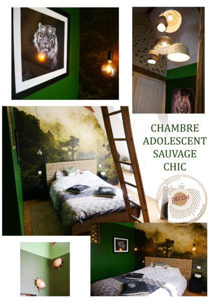 <strong>chambre adolescent sauvage chic</strong> <em>lustre créé spécialement. chambre chaleureuse, à l'identité forte et simple</em><br  /></p><p>
