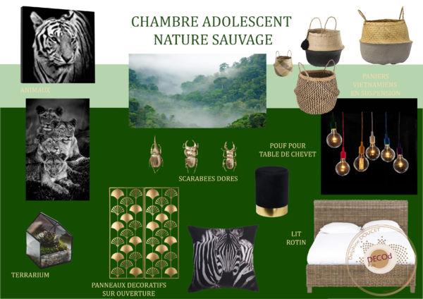 <strong>chambre adolescent sauvage chic</strong> <em>planche couleurs/matières et objets décoratifs</em><br  /></p><p>