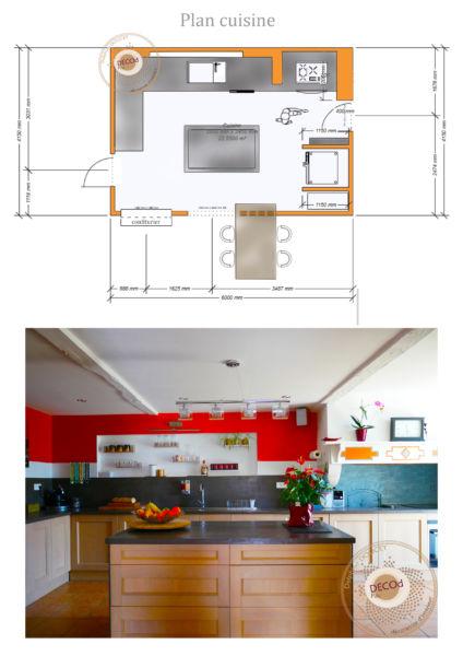 <strong>cuisine fermière épicée</strong> <em>projection sur plan aménagement cuisine </em><br  /></p><p>