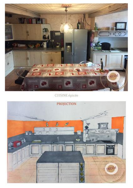 <strong>dessin cuisine fermière épicée</strong> <em>le moderne met en valeur l'ancien, apporte lumière, profondeur et textures</em><br  /></p><p>