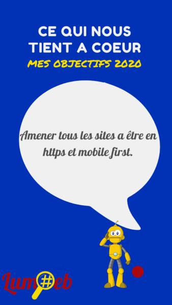 Amener tous les sites à être en HTTPs et Mobile first compatible avec téléphone portable