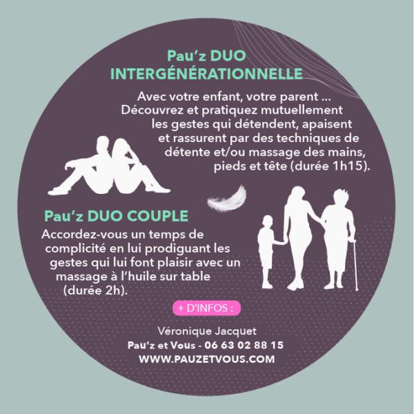<strong>Pau'z DUO parent/enfant</strong> <em>Un cadeau d'expérience </em><br  /></p><p>